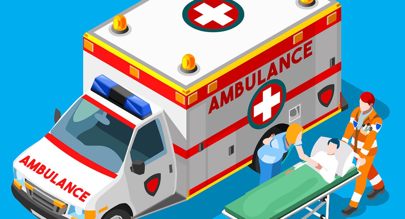 ambulance saving respiratory distress patient