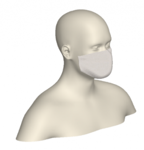Figure 6. Mask geometry for simulation of Flush